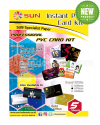 SUN PVC ID Card A4 Super White 0,76 - Isi 5 Set